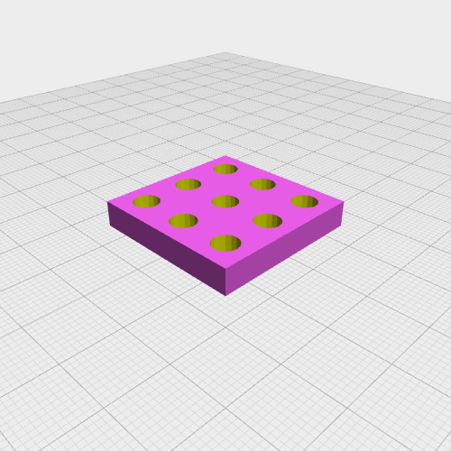 Cuboid with holes